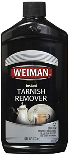 Weiman Instant Tarnish Remover for Silver and Copper - 16 Ounce Bottle - Restore Silver Plated Jewelry Heirlooms Copper and More