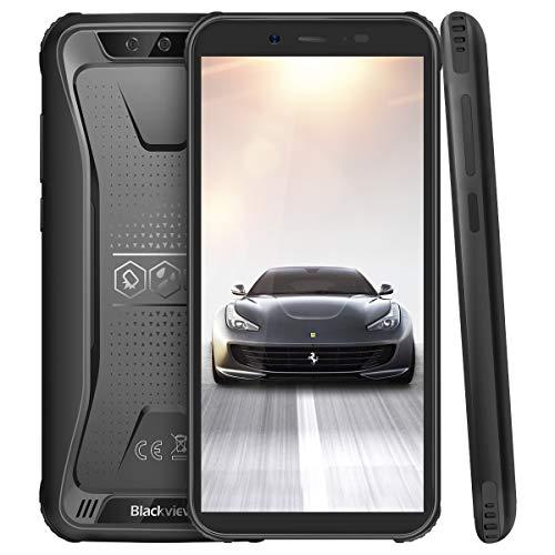 Blackview BV5500 Pro Outdoor Smartphone ohne Vertrag, 4G Günstige Handy 5.5 Zoll, 3GB RAM+16GB Speicher, 4400mAh Akku, IP68 Wasserdicht, Android 9.0, NFC, Face ID, Dual SIM (Schwarz)