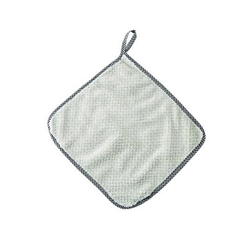 Home Keuken Koraal Fleece Schoonmaken Kleding voor Scherm Toetsenborden Glazen Reinigen 27.5x25cm Groen