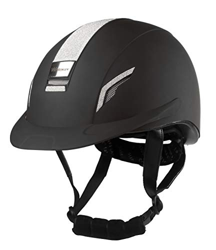 Signature WHT1130 Vx2 Sparkly Riding Helm, Schwarz, 54 cm