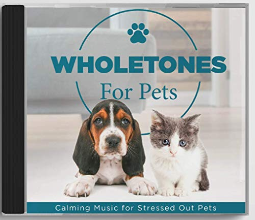 Wholetones Pets CD - Calming Music Speaker for Stressed Dogs & Cats - Helps with Fireworks, Thunderstorms, Separation Anxiety (396 Hz)