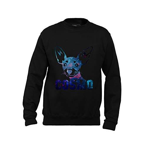 Wild Soul Tees, Sweatshirt für Herren, Doggy | Cosmo Style | Toy Terjer | Design | Logo | Bekleidung | Wäscheleine Gr. Small, Schwarz