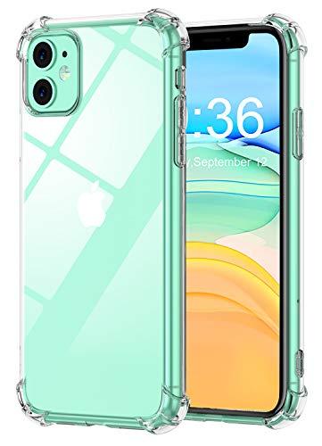 Babacom Coque Compatible avec iPhone 11, Etui de Protection Transparent Antichoc avec Quatre Coins Renforcés, Bumper Extrêmement Fin en TPU Souple Renforcé Compatible avec iPhone 11 (2019) 6,1 Pouces