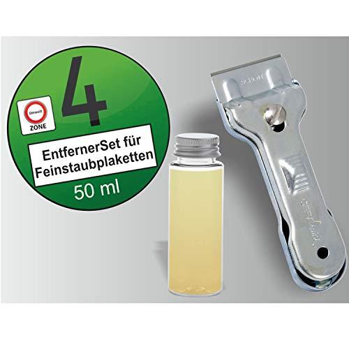 AufkleberDealer.de Umweltplaketten entfernen Set.Feinstaubplakette von Scheibe entfernen!