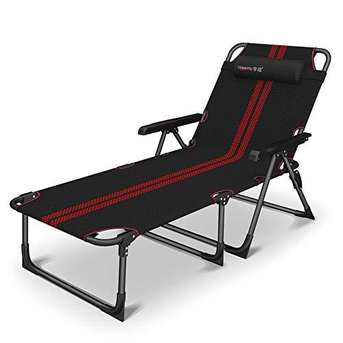 ZR- Chaise Pliante Été Siesta Lounge Chair Bureau Chaise Plage Portable Chaise Lounge Enceinte Chaise Siesta Chair (Couleur : A)