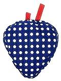 Marzoon Bunter Sattelbezug Sattelschutz Satteldecke Fahrrad Sattel Überzug, wasserfest (Blau mit weißen Punkten)