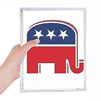 アメリカ アメリカ合衆国共和党の象のエンブレム 硬質プラスチックルーズリーフノートノート
