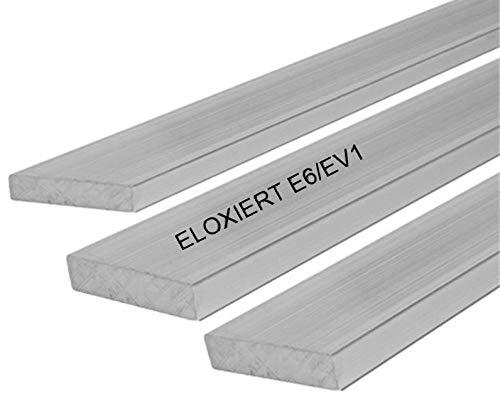 Aluminium Flachmaterial Flach Flachstange Eloxiert Silber Matt 40x2,0 mm 1000mm