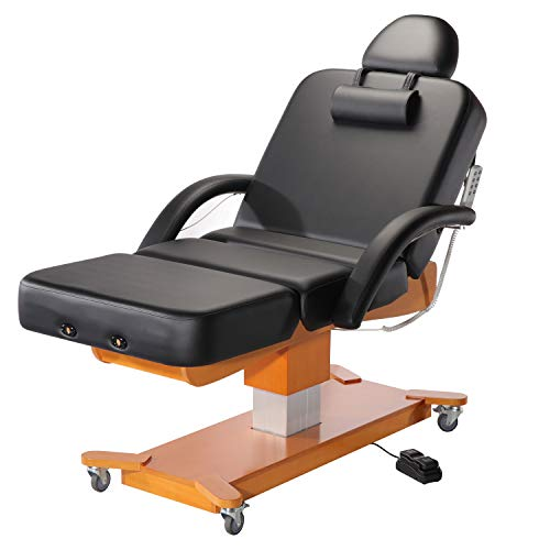 Master Massage Maxking Salon Electric Massage Table Package Lift Table, 30 Inch, Black