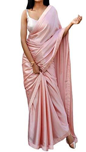 BELLUXA Women's Jacquard Japan Silk Saree With Un-Stitched Blouse