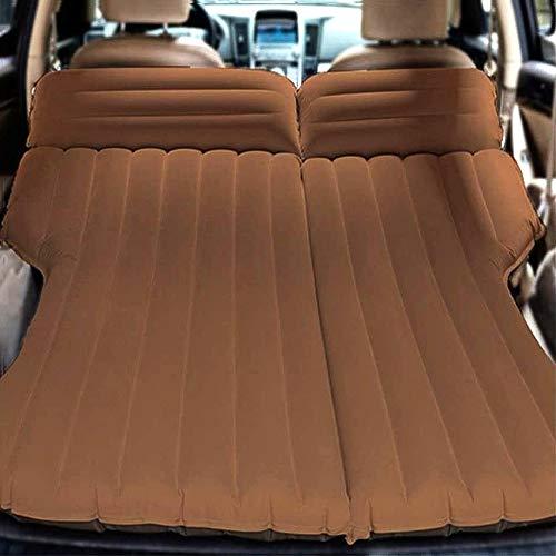 RGA Multifunktionale Auto-Luftmatratze, Camping-Bett, Outdoor-SUV, dediziertes mobiles Kissen, verlängerte Reisematratze, Luftbett, aufblasbar für SUV Rücksitz, passend für 95% SUV mit Pumpe (Kaffee)