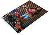 PosterGlobe Poster B976 Daisy Dang Dukes Hazzard Pin-Up Girl Hot Rod Motorcycle Auto Shop Cave12 x 18'