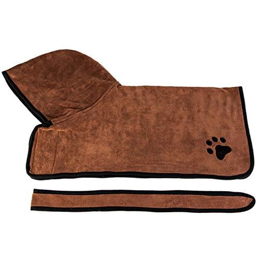 Hony huisdier badhanddoek hond kat badjas - super absorberende huisdier bad badjas snel droog met verstelbare riemen voor huisdier puppy kitten