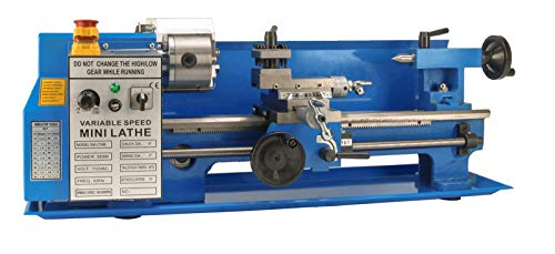 Erie Tools 7 x 14 Precision Bench Top Mini Metal Milling Lathe Variable Speed...