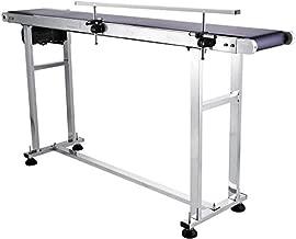 BESHENG Conveyor Belt, Speed Adjustable PVC Conveyor Belt for Inkjet Printer, Anti-Static Wear-Resistant Corrosion-Resistant Electric Conveyor Belt Machine with Single Guardrail (59 x 7.5 Inch)