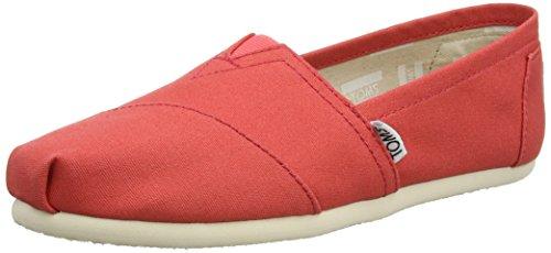 Toms Damen Espadrilles, Leinen, Rot - Red (Coral) - Größe: 36
