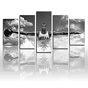 Unique Created Wall Art Canvas Pictures for Living Room Home Decor Michael Jordan Wings Autographed Poster Print Canvas Painting New Home Gifts Frameless  Size 5 8x12inx2,8x16inx2,8x20inx1Frame