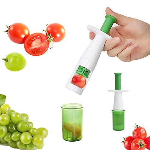 Runy Obst Gemüse Schneider Hilfsstoff Babynahrung Kirsche Tomatenschneider Multifunktionale Kreative Werkzeuge Traubenschneider einfach zu verwenden