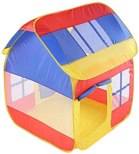 Schattig Play Tent for kinderen Ruimte Pop Up Play House Toy Tent Splicing contrasterende kleur Indoor Corner Tent Foldable Princess Grote speelhuisje met draagtas (Kleur: C1, Size: 110x105x120cm)