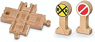 Deluxe Accessory Crossing Track Pack - Thomas & Friends Wooden Railway Tank Train Engine - Brand New Loose