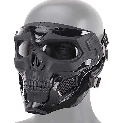 Heatile Skelett Taktische Maske mit polarisierten Brillengläsern Starke Anti-Stoß sicher und zuverlässig Perfekte Maske für Maskerade Party, Halloween, Cosplay, Kostüm Party, Jagd Spiel, CS-Spiel