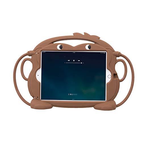 HSKB beschermhoes, [kindvriendelijk] lichte koffer silicone soft case shell anti-slip schokbestendig versterkte hoeken hoes case voor iPad 2018 2017 A1822 A1893 voor iPad Air 1 2 Pro 9,7 inch