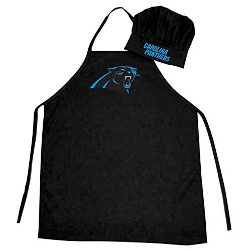 NFL Carolina Panthers Chef Hat and Apron Set, Black, One Size