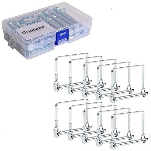 10 PCS Square Pto Pin Shaft Locking Pin 1/4 pin Hitch pin Wire Lock Pin Safety Coupler Pin 1/4