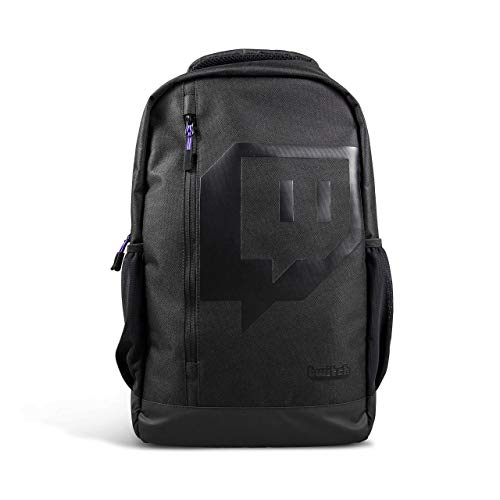 Twitch New Backpack fits 15.5-inch Laptop Durable Material Fashionable Design Lightweight Large Room Computer Notebook Bag for Travel Business Gaming Party Outdoor Indoor Casual Activities, Black