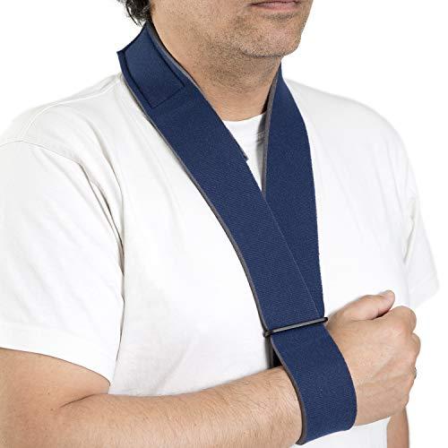 ORTONES | Cabestrillo Inmovilizador Hombro Brazo | Correa de Soporte de Grado Médico | Talla universal | Azul.
