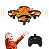 HELIFAR Mini Drone pour Enfant, UFO drone à Commande Manuelle, Drone pour Débutant Drone LED, Drone et Évitement d'Obstacle Infrarouge Altitude Maintien/Cadeau de Noel Jouet Drone Cadeau (2 Batteries)