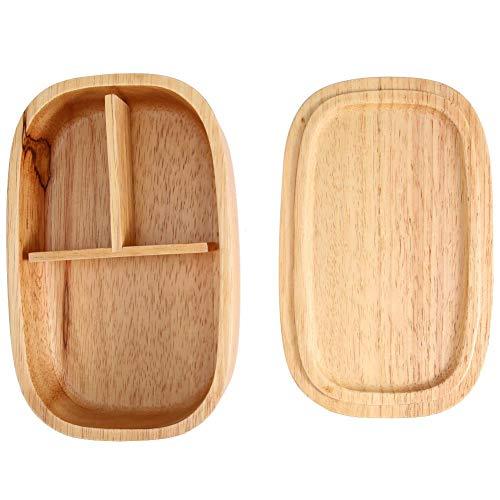 Brotdose - hölzerne Brotdose Lebensmittelvorratsbehälter Schule Picknickplatz Bento Box