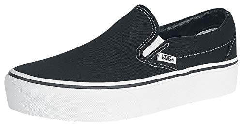 Vans Women's Classic Platform Slip on Trainers, Black (Black Blk), 8 UK 42 EU
