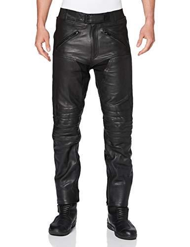 Bikers Gear Australia Herren weiche Premium-Motorradhose aus Leder,LT1004,Schwarz,EU(46XL),UK(36L)