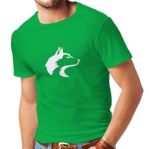 lepni.me Camisetas Hombre la Llamada del Lobo Salvaje - gráfico Genial con sentimiento Espiritual (X-Large Verde Blanco)