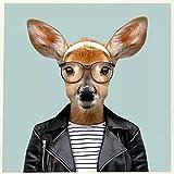 Hermoso Lindo Animal Ciervo Con Gafas﹣Juego De Pintura De Diamantes 5Dpara Manualidades Con Cristalesdecoración De Pared,﹣50X50Cm(Sin Marco)