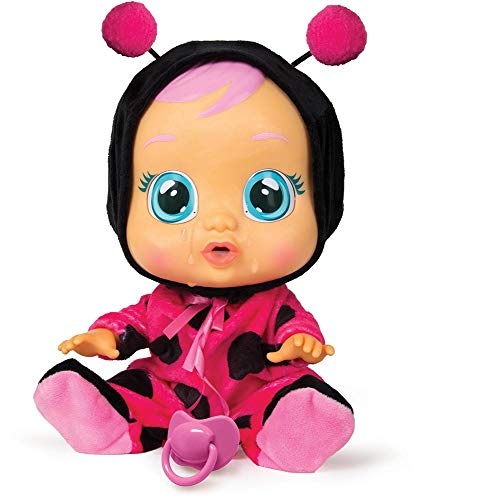 Cry Babies Lady The Ladybug Doll, Black/Magenta