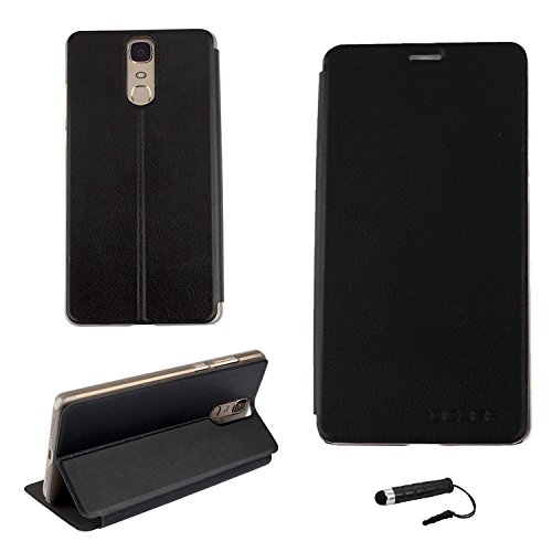 Tasche für Doogee Y6 MAX Hülle, Ycloud PU Ledertasche Metal Smartphone Flip Cover Case Handyhülle mit Stand Function Schwarz