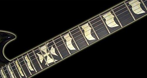 Iron Cross JH Fret Markers Stickers Inlay Gitarre & Bass Aufkleber Diapason Gitarre silber