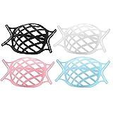 ZITFRI Maskenabstandhalter 4 Stück 3D Maskenhalterung Maskenunterstützung, um Lippenstift/Make-up zu schützen, interner Halterahmen mit Haken, Fest zu halten, Silikon Lippenstift Schutz Maskenhalter