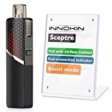 E <span class='highlight'>Cigarette</span> Vape Starter Kit Innokin Sceptre Pod Ecig, MTL RDL, Auto Draw with Boost Button, 1400mAh Mirco USB Charging, E<span class='highlight'>cigarette</span> Premium Flavour Vaping, AMZ UK 2ml, No Nicotine - Black