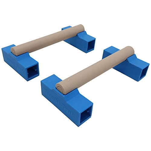 Tumbl Trak Portable Parallette Bars, Blue