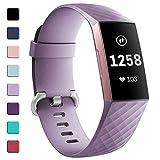 Zekapu pour Fitbit Charge 3 Bracelet, Classique Réglable Bracelet De Rechange avec...