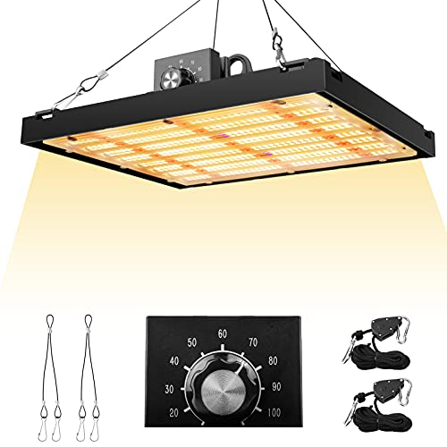 LED Grow Light 150W(Real 150W) with Samsung LED Chips, UL Driver Plant LED Grow Light, Full Spectrum Dimmable Growing Lamp for All Stage, Suitable for 3x3ft Indoor Plant, Hydroponic, Greenhouse