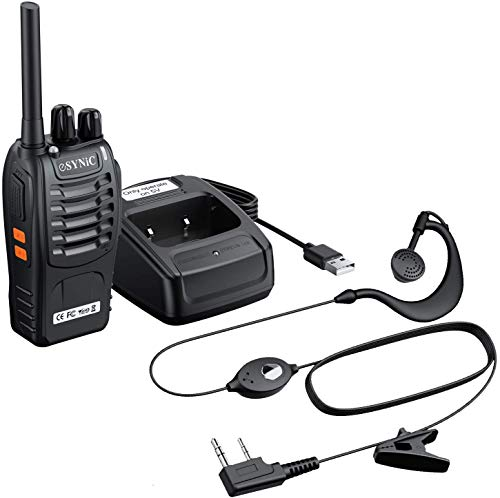 ESYNiC 1pz Walkie Talkie Due-Via Radio PMR 446MHz 0.5W Frequenza Civile - Ricetrasmittente Handheld...