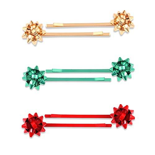 Christmas Bow Hair Clip Hairpin Headdress Hair Bows Alligator Clips For Woman