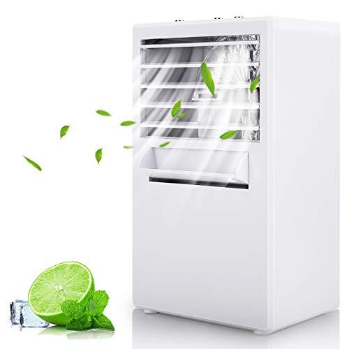 Winload Mobiles Mini Klimagerät, Mini Air Cooler Luftkühler, Persönliche Klimaanlage mit Wasserkühlung, Luftbefeuchter, Luftreiniger, Tragbarer Luftkühler 3 Geschwindigkeiten für Zuhause und Büro