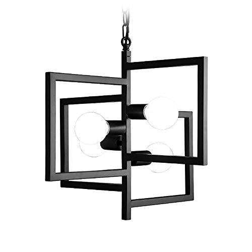 Araña de dkee Lámpara de araña creativa de hierro forjado Sala de estar Restaurante moderno minimalista Dormitorio Bar Lámpara de araña de arte