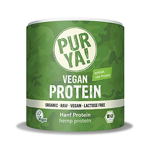 PURYA! BIO HANF Protein-Pulver, für Smoothies, Shakes, Salate oder Müslis, veganes Protein für Muskelaufbau und Fitness, vegan und laktosefrei, 250g