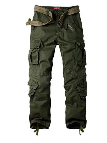 TRGPSG Pantaloni Cargo da Donna Casual in Cotone, Pantaloni mimetici da Trekking e Combattimento all'aperto, Pantaloni da Lavoro Tattici Militari Multitasche
